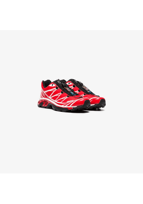 Salomon S/Lab red and white XT-6 adv sneakers