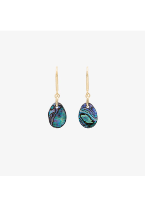 Isabel Marant multicoloured oval mother-of-pearl earrings
