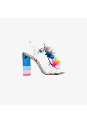 Sophia Webster Lilico 100 rainbow flower PVC strappy leather sandals