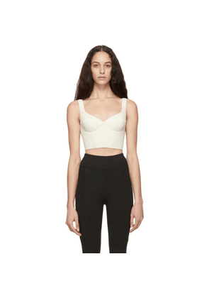 Ernest Leoty Off-White Jade Crop Top Bra
