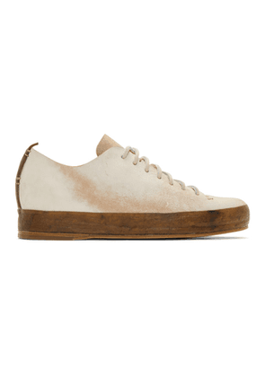 Feit White Raw Hand Sewn Low Sneakers