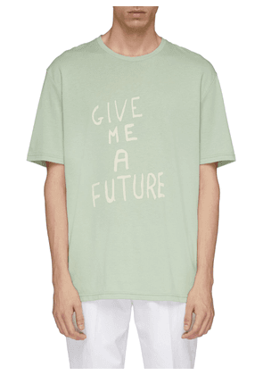 'Give Me a Future' slogan print T-shirt