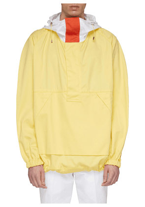 Colourblock elbow panel hooded jacket