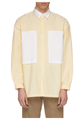 'Lineman' colourblock patch pocket oversized boxy Oxford shirt