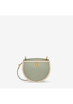 Bally Cecyle Small Green, Women's calf leather small crossbody bag in pale green