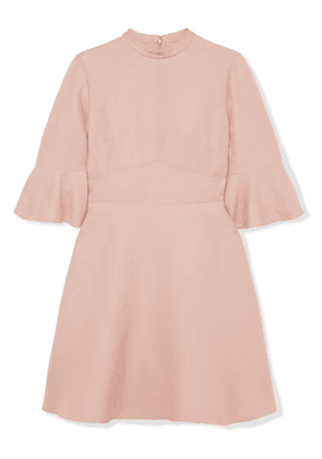 Valentino - Wool And Silk-blend Cady Mini Dress - Pink