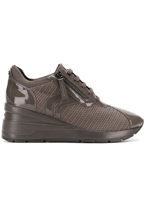 Geox woven lace-up sneakers - Brown