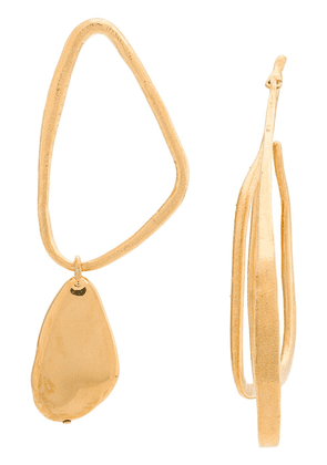 Givenchy asymmetrical earrings - Gold