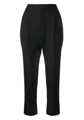 Saint Laurent pleated tailored trousers - Black
