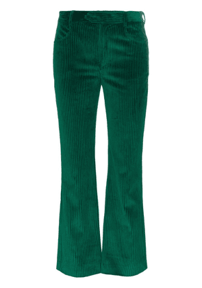 Isabel Marant Mereo cropped corduroy cotton trousers - Green