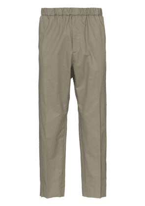 Jil Sander R-priamo cropped cotton trousers trousers - Neutrals