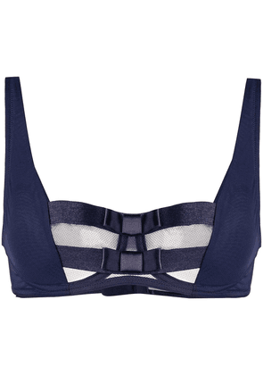 Chantal Thomass Audacieuse strappy jersey bra - Blue