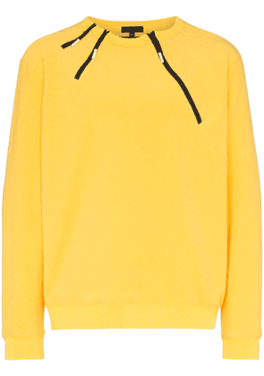 99% Is neck zip jumper - Yellow