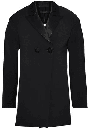 Ellery Woman Incognito Cutout Satin-trimmed Ponte Jacket Black Size 10