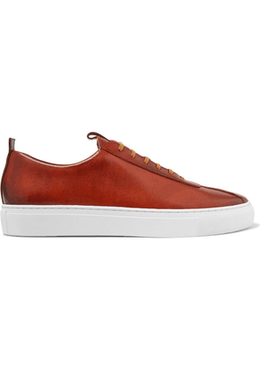 Grenson - Hand-painted Leather Sneakers - Tan