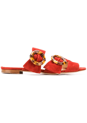 Chloe Gosselin Patti buckled slides - Orange