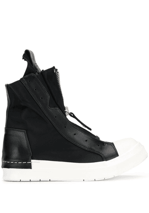 Cinzia Araia zipped hi-top sneakers - Black