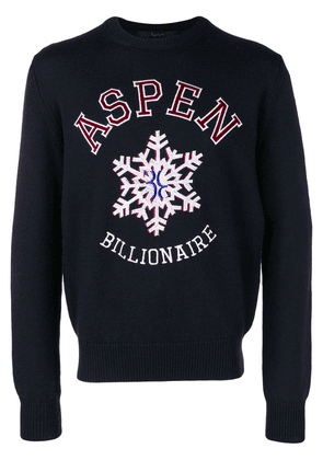 Billionaire crew neck jumper - Blue