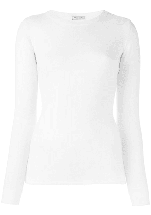 Fashion Clinic Timeless crew neck knitted top - White