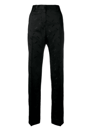 MSGM all over logo trousers - Black