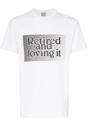 Ashley Williams retired and loving it slogan T-shirt - White