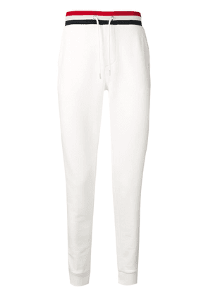 Moncler striped waistband trousers - White