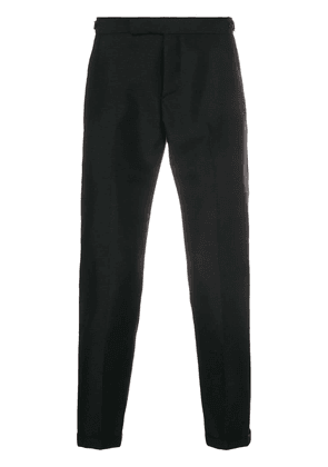 Thom Browne Rwb Selvedge Silk Tipping Trouser - Black