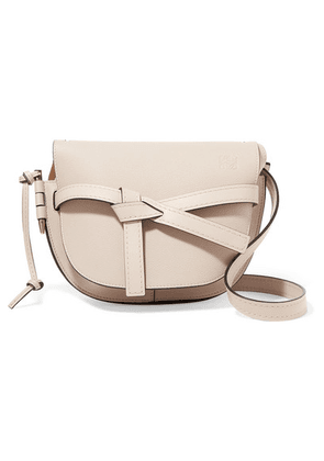 Loewe - Gate Small Textured-leather Shoulder Bag - Stone