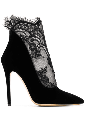 Aleksander Siradekian Eva lace-panelled booties - Black