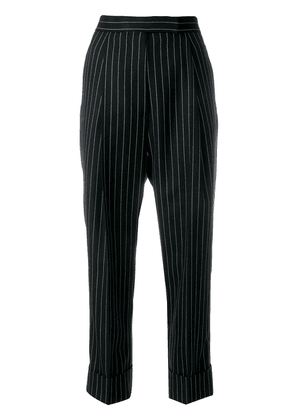 Thom Browne Chalk Stripe Twill High Waist Trouser - Blue