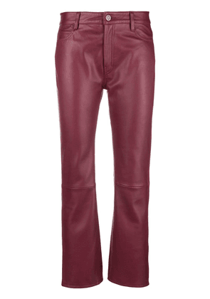 Mih Jeans Daily cropped trousers - Red