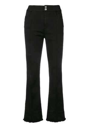 Dorothee Schumacher flared cropped trousers - Black