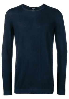 Avant Toi long-sleeve fitted sweater - Blue