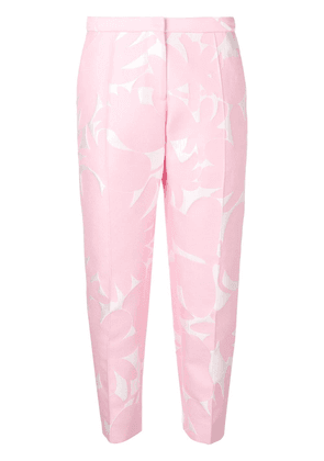 Marni floral tailored trousers - Pink