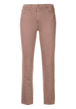 Ag Jeans The Isabelle straight cropped jeans - Pink