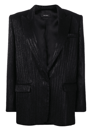 Isabel Marant lurex striped blazer - Black