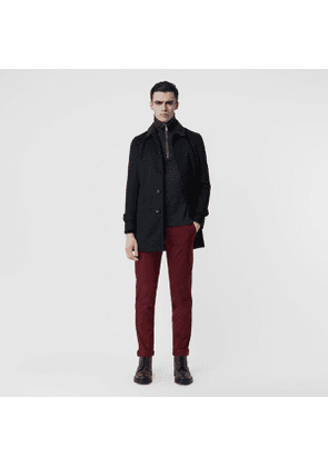 Burberry Slim Fit Cotton Chinos, Red