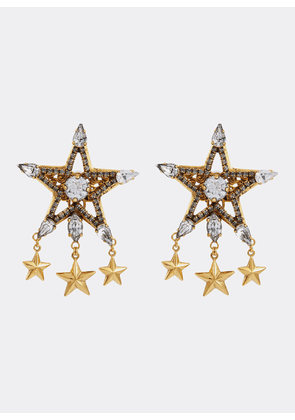 'Reach For The Stars' Swarovski crystal drop earrings