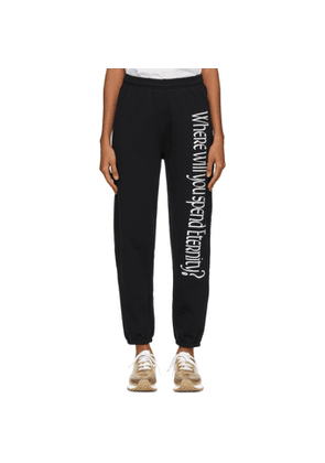 Ashley Williams Black 'Where Will You Spend Eternity?' Lounge Pants