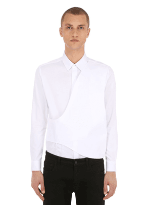 Cross Panel Cotton Poplin Shirt