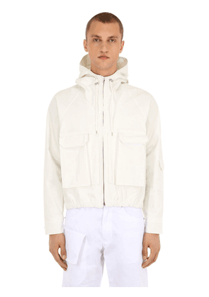 Le Blouson Hooded Cotton Blend Jacket