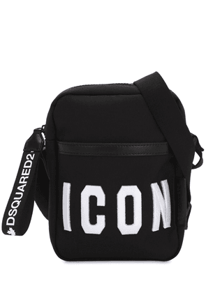 Icon Embroidered Tech Crossbody Bag