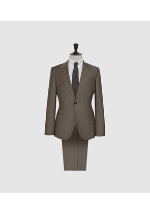 Reiss Brompton - Single Breasted Wool Suit in Sage Green, Mens, Size 36