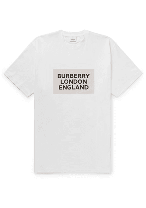 Burberry - Printed Cotton-jersey T-shirt - White