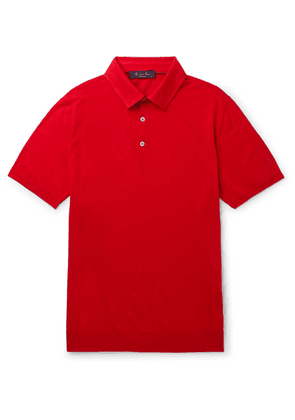 Loro Piana - Slim-fit Silk And Linen-blend Polo Shirt - Red