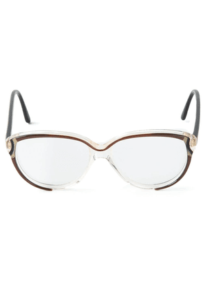 Balenciaga Vintage rounded glasses - Brown