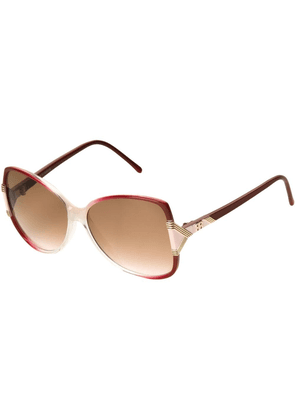 Balenciaga Vintage butterfly frame sunglasses - Red