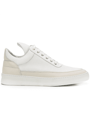Filling Pieces panelled hi-top sneakers - White