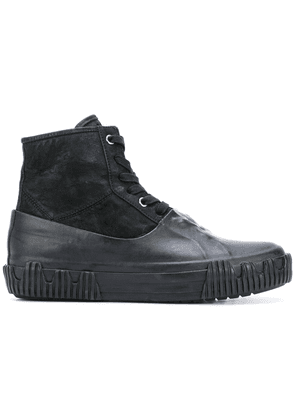Both contrast lace-up boot - Black