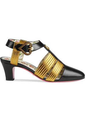 4f69f4f1a Gucci Marmont 110 chunky heel leather sandals